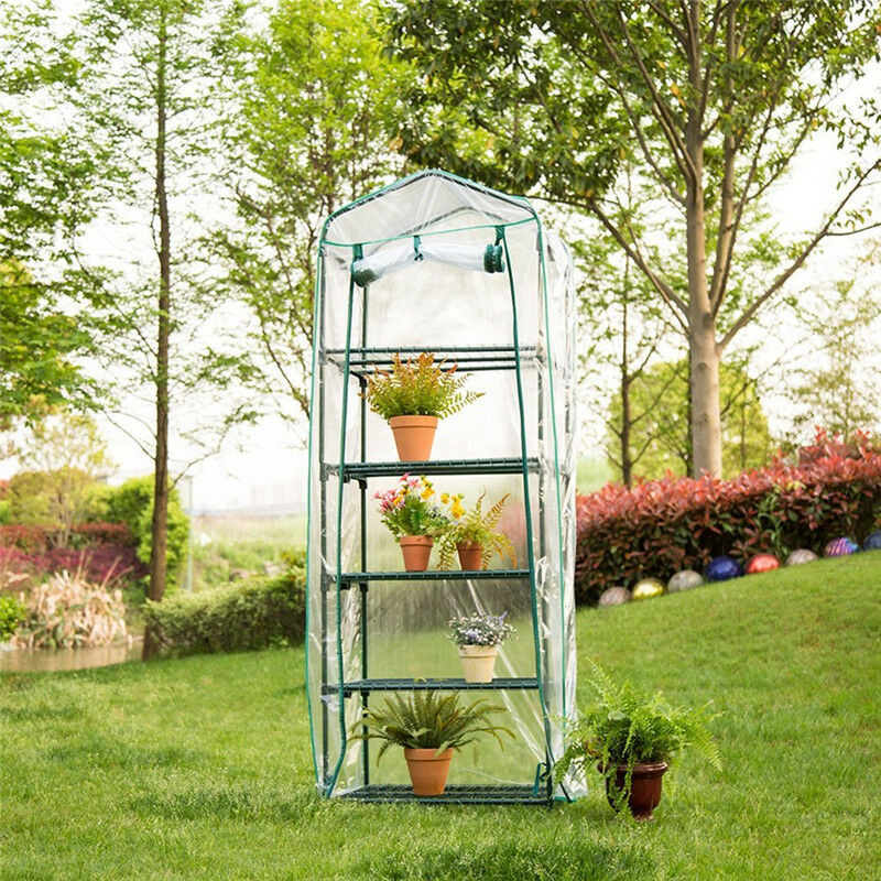 PVC Grow Tent Plant Cover Plant Greenhouse Cover Waterproof Anti-UV Protect Garden Plants Flowers  without Iron Stand  XNC