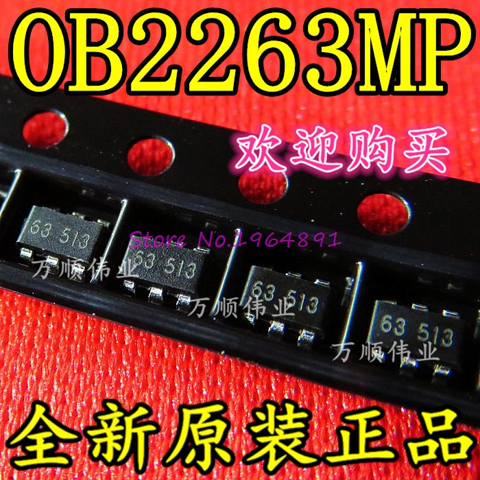 10pcs/lot OB2263MP OB2263 2263 SOT-23-6 In Stock