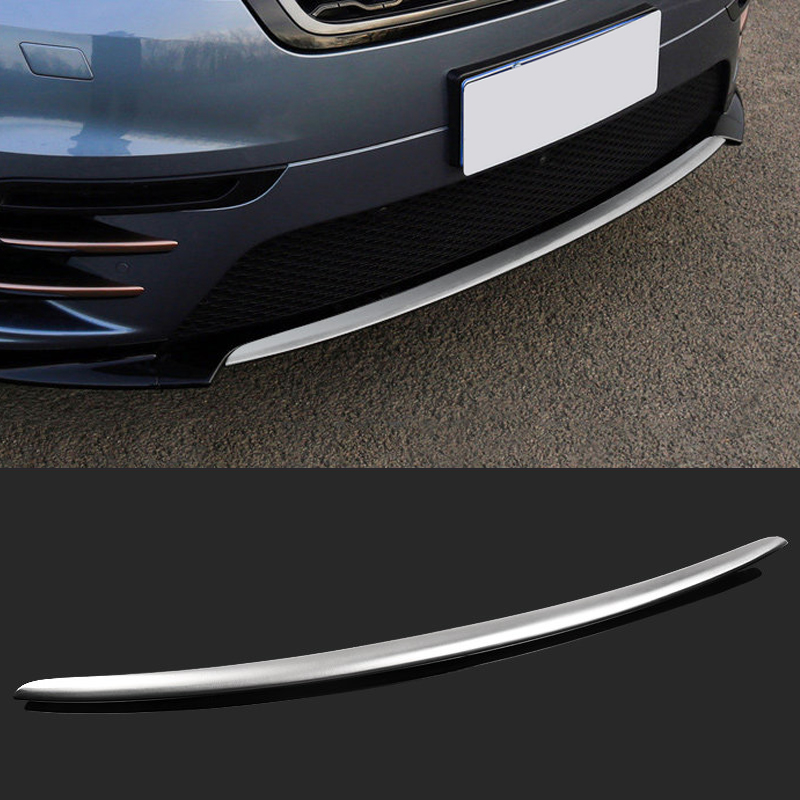 For Land Rover Range Rover Velar 2017 2018 Stainless Steel Matte Front Bumper Bottom Molding Strip Cover Trim 1pcs коврики в салон land rover range rover evoque 2011