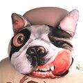 OTOKIT Cool 3D Impreso Perro SharPei Cara Coche del Resto del Cuello Suave Auto Cabeza Resto Del Cuello Del Amortiguador Reposacabezas Coche Carbón activado Cubierta de Asiento