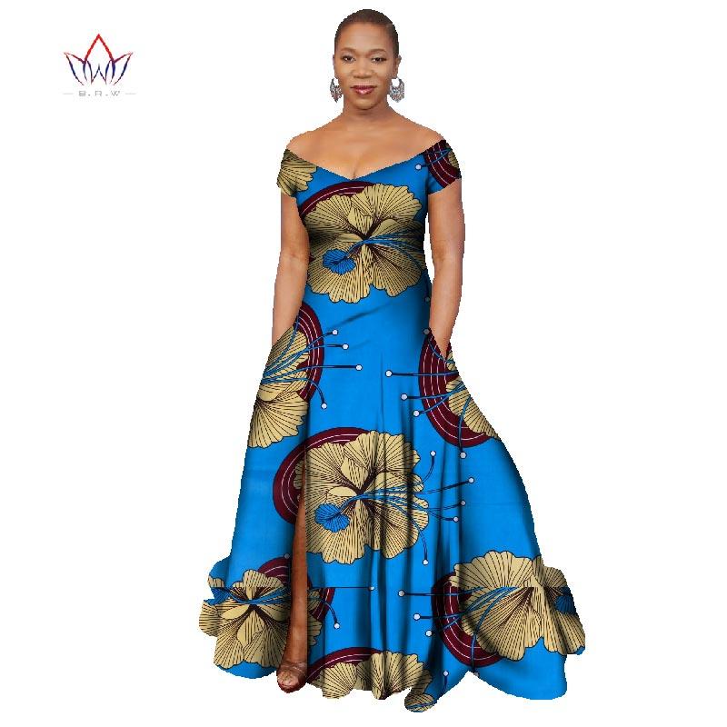 2018 Лонг Хаљина Африка Базин Рицхе - Женска одећа - Фотографија 4