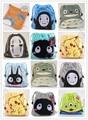 Totoro Cartoon Niños Mochilas Bolsos de Lazo de la Felpa Corta Suave