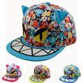 The new printing large sharks ear caps fashion baby boys and girls baseball cap hip-hop hat cap with straight visor snapback
