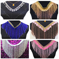 Beading Fringe Tassel Lace Latin trimming lace silver 15cm