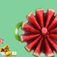 Extra large cut watermelon artifact thickened stainless steel fruit divider Hami melon Apple enucleation dicing slicer