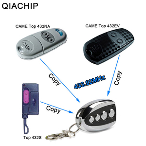 Image 3 - QIACHIP 433.92 MHz ABCD style Wireless Auto Remote Control Duplicator Adjustable Frequency Gate 433 MHz Copy Remote Controller