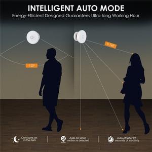 Image 2 - 360 grad Rotierenden Wiederaufladbare LED Nacht Licht Sicherheit Wand lampe Motion Sensor licht für Schlafzimmer Treppen Küche wc lichter