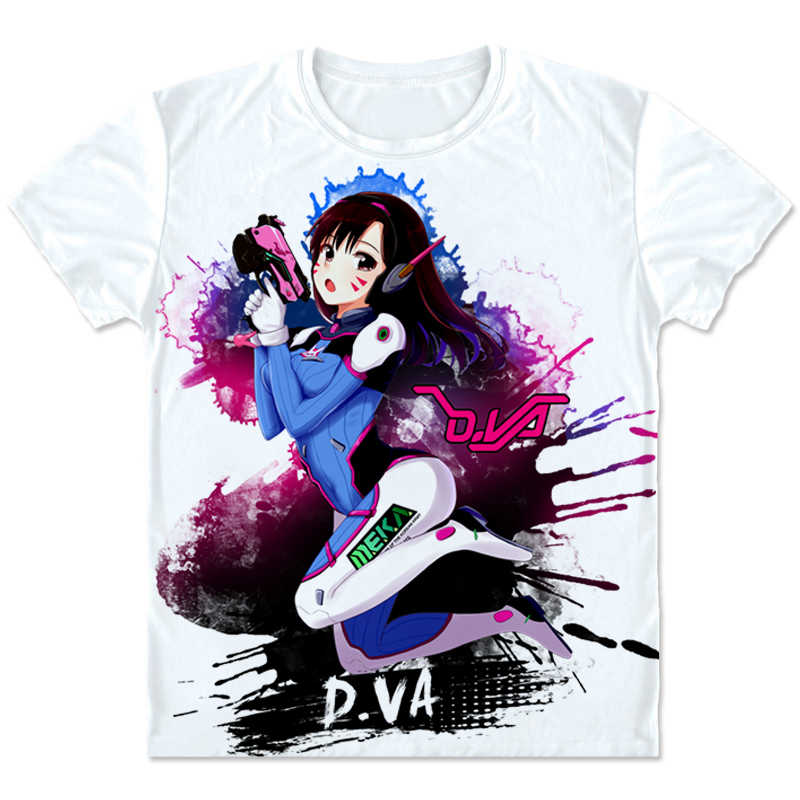 New Game OW Hero D.Va Cosplay T shirt Fashion Casual DVA Costumes Men/Women Summer Short T shirt Clothings High quality