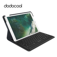 dodocool MFi Certified Smart Keyboard for iPad Pro 10.5 inch with Smart Connector Slim Shell Protective Cover Folio Case Stand