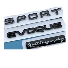 Black Letters EVOQUE SPORT Autobiography Trunk Lids Rear Badge Emblem Emblems Badges for  Discovery Range Rover