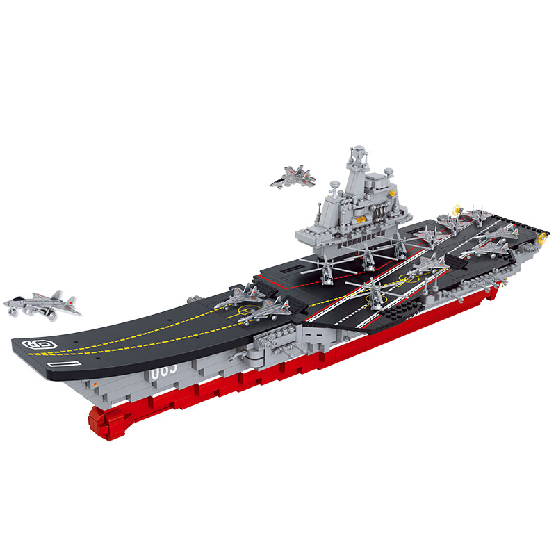 Sluban 1059PCS Chinese Military Building Block Compatible with legoe Aircraft Carrier Liaoning Construction Educational Toys new avengers season 2 hulk rocky space aircraft carrier breakout super hero minifigures building block compatible with legoe