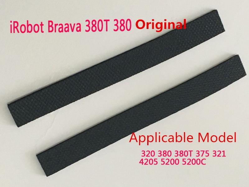2 pcs High-quality wheel tire Leather Fetal skin for iRobot braava 320 380 375T 380T Mint 4200 4205 5200 5200C Replacment