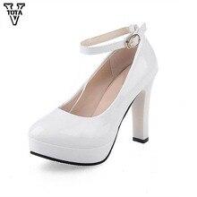 Vtota высокое качество женские туфли-лодочки высокий каблук натуральная кожа женская обувь на платформе обувь Женская обувь на высоком каблуке-ED обувь на каблуках для вечеринок Q76