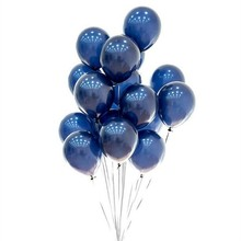 30 Latex baloons 12 Inch Thicken Pearl Luminous Blue Balloon Inflatable wedding decoration Baby birthday kids Toy