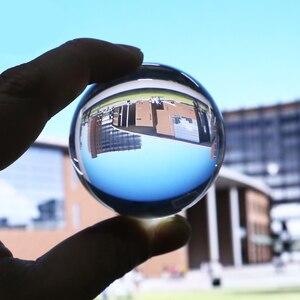 Runde 50mm Klar Glas Kristall Ball Transparent Leistungsstarke Heil Kugel Fotografie Requisiten Hause Dekoration