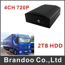 Mobile 720P DVR 4CH MDVR Car Security For Bus Taxi Truck Vans Fleet