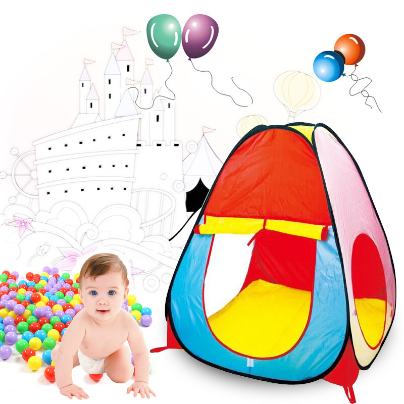 YARD Colorful Cartoon Children Playhouse for Kids Tents Oceanballs House Outdoor Pool Boys Fun House Toys Tents for Kids Playing