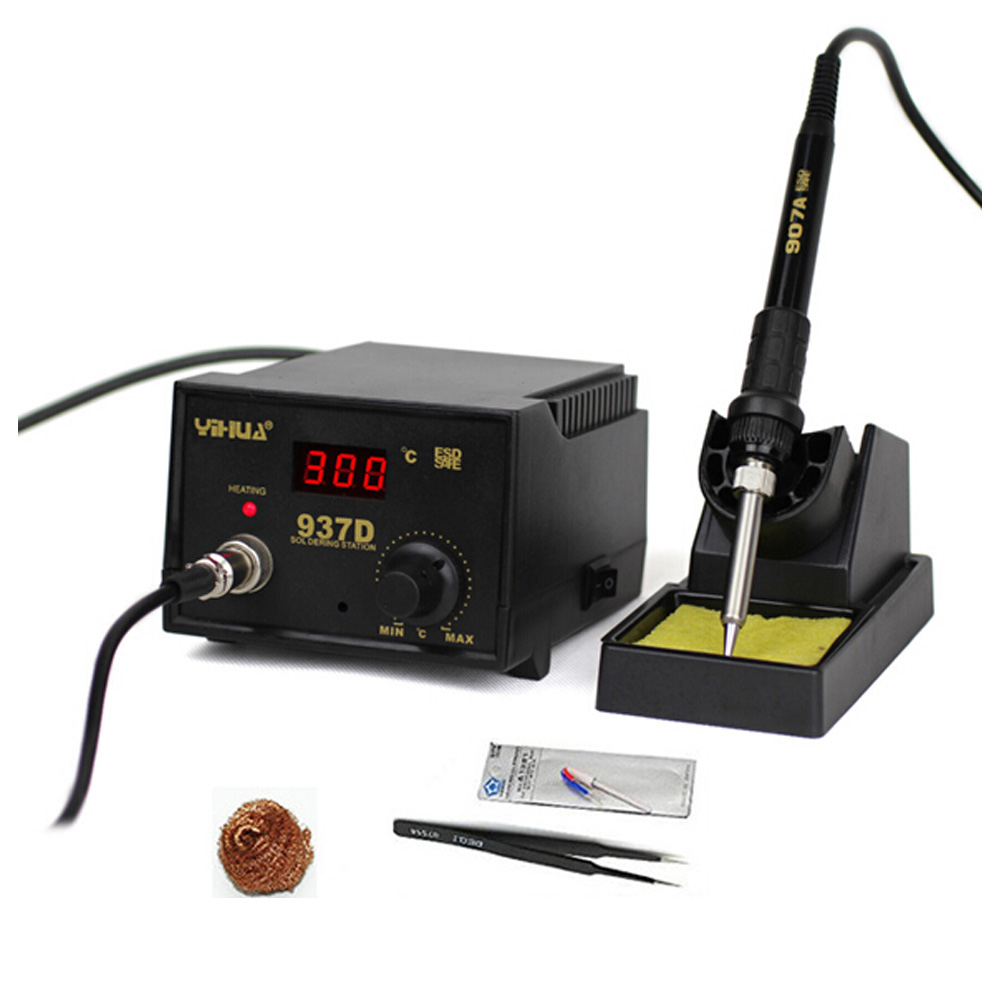 Temperature Control ESD Digital Soldering Station / Rework Stations YIHUA 937D with EU plug
