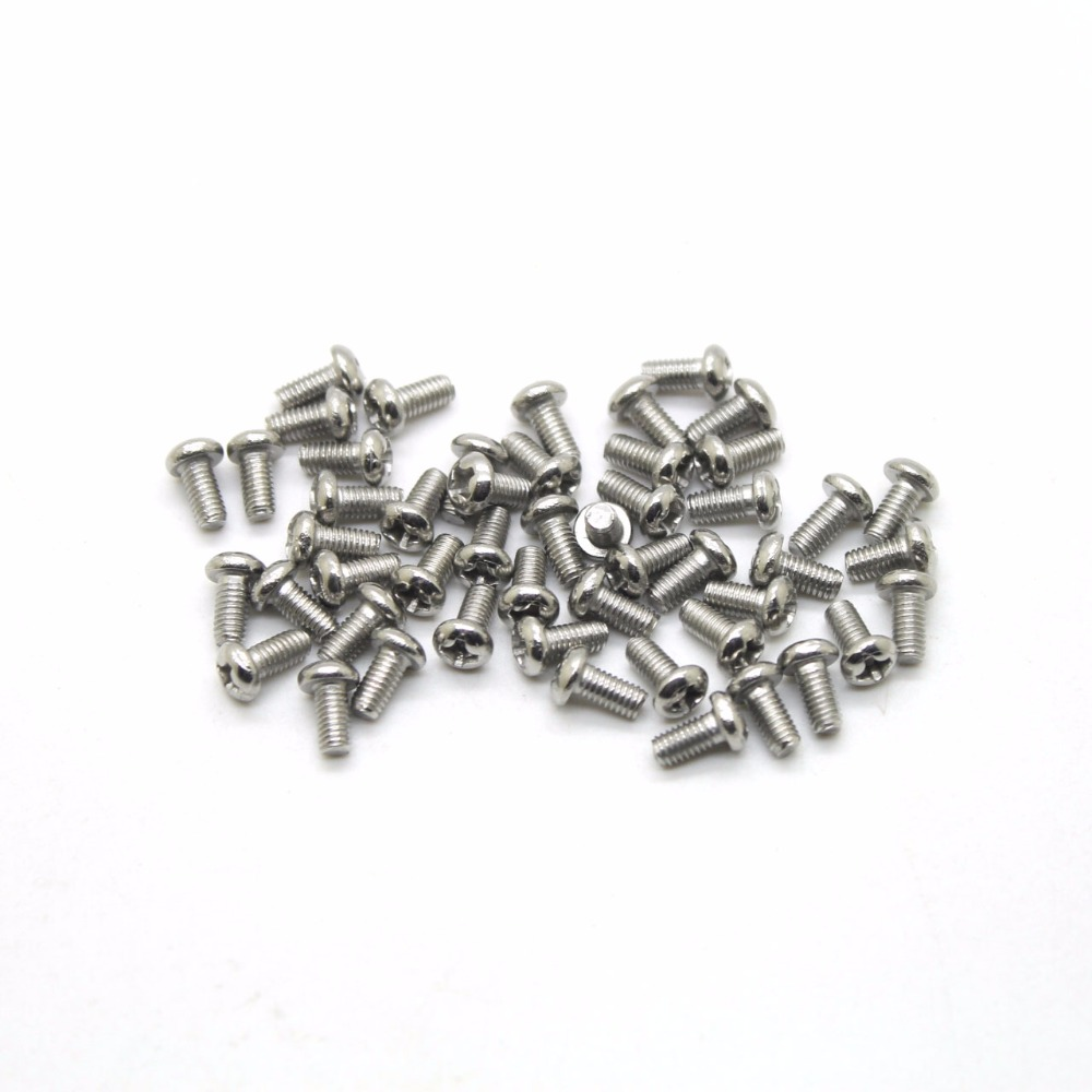 50Pcs/lot M3 Screw 3 Phillips Pan Head Screws Stainless Steel Match M3 stainless steel sems screws m3x8 pan head 1 phillips driver polished rohs