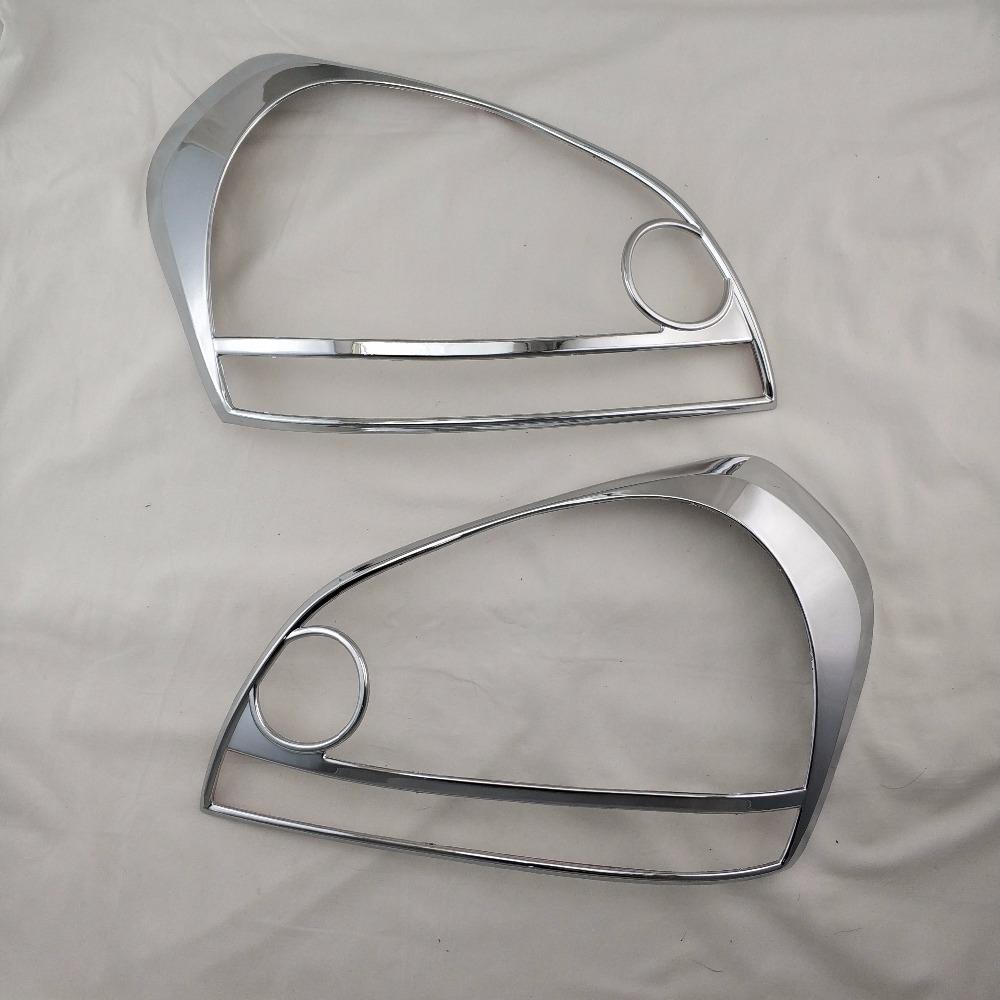 2pcs ABS Head Lamp Cover Car Chrome Strips for Hyundai Tucson 2006 2007 2008 2009 Accessories Headlamps Cover Trim