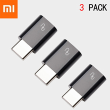 3 Pack XIAOMI USB Cable USB-C 3.1 Type C Male to Micro USB Female Adapters Type-