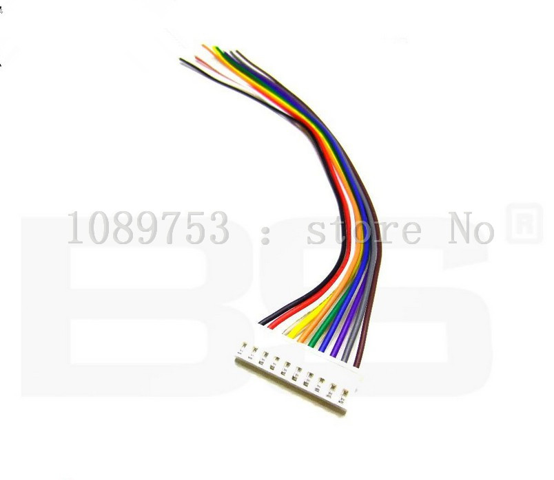 100PCS JST XH 2.54-10 Pin 10CM Battery Connector Plug Male with 100MM Wire 100pcs jst xh 2 54 4 pin battery connector plug male with 100mm wire