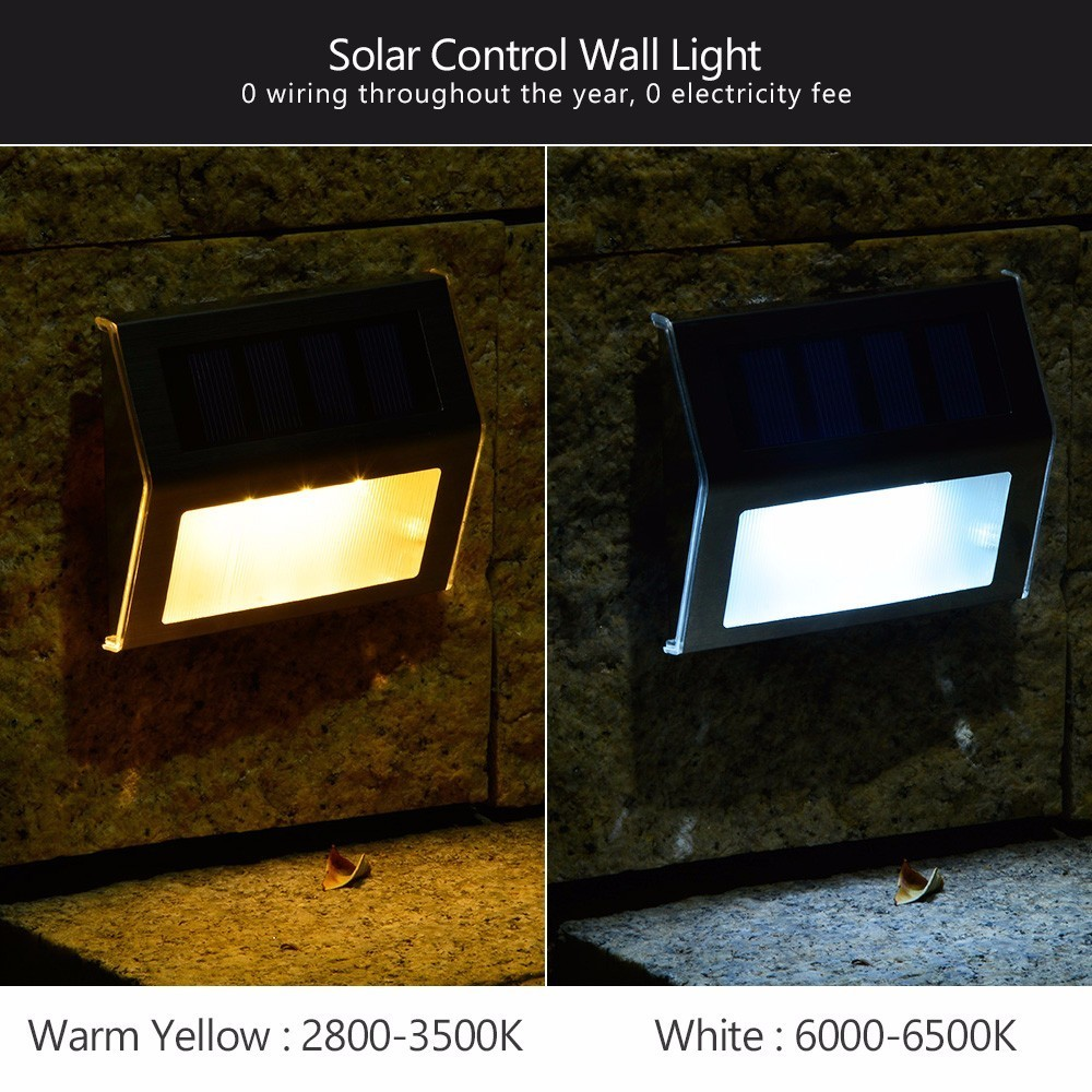 10 Pieces Led Solar Stair Lights Ed Step