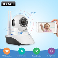 KERUI Two Antenna 720P HD Indoor Home Security WiFi IP Camera Russian Warehouse Stronger Signal Onvif