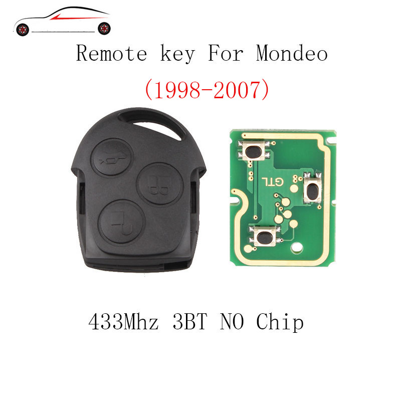 GORBIN 3BT 433mhz Remote Key For <font><b>Ford</b></font> <font><b>Fusion</b></font> Focus Mondeo Fiesta Galaxy 1998 1999 2000 2001 2002 2003 2004 <font><b>2005</b></font> 2006 2007 key image