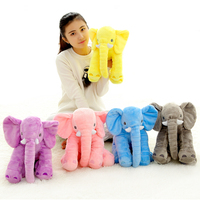 1pc 40cm Cute 5 Colors Plush Elephant Toy With Long Nose Stuffed Animal Pillow Soft Infant