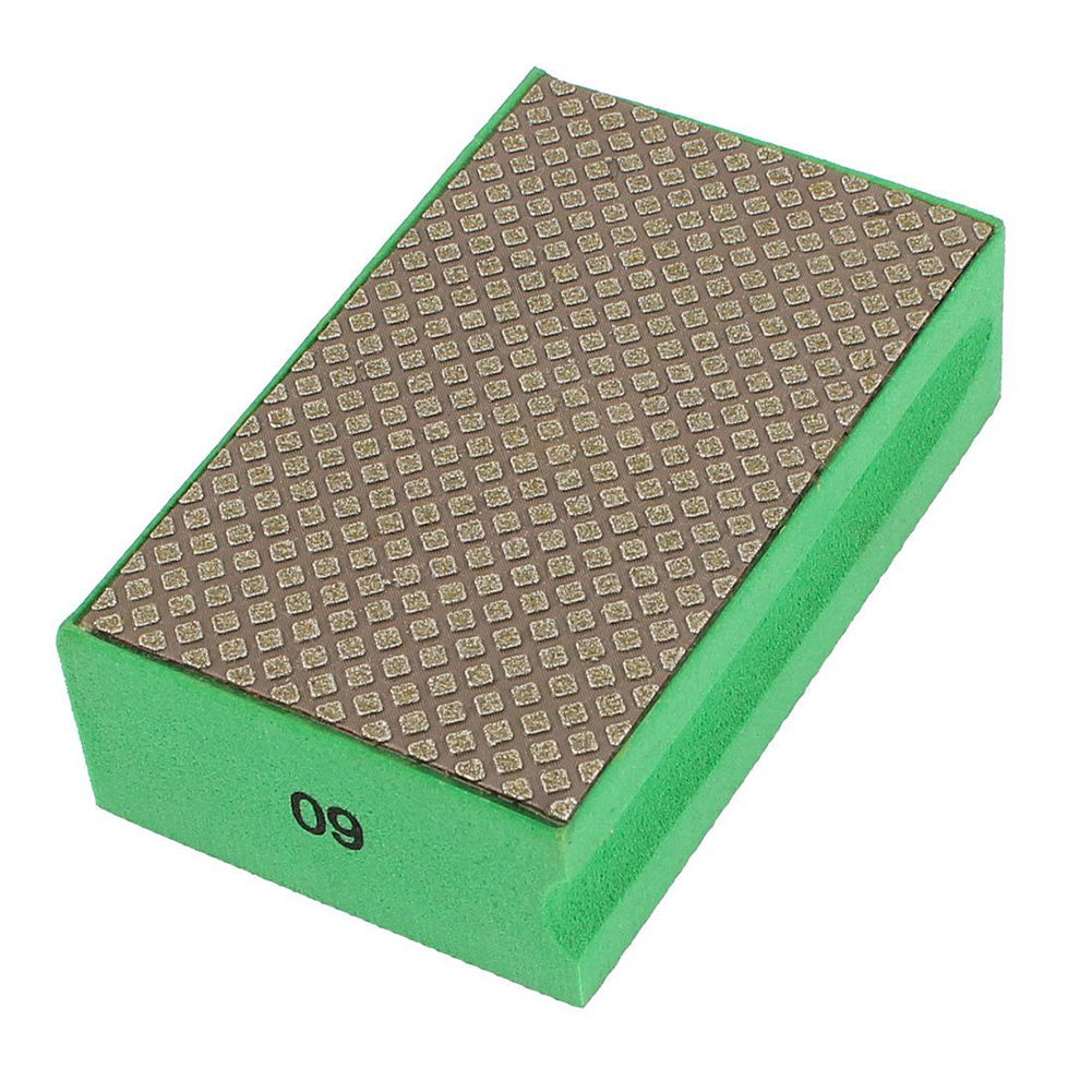 sponge Grinding Dry Diamond Hand Polishing Pad Grit 60 Green car wax wash cleaning polishing expanding sponge pad yellow
