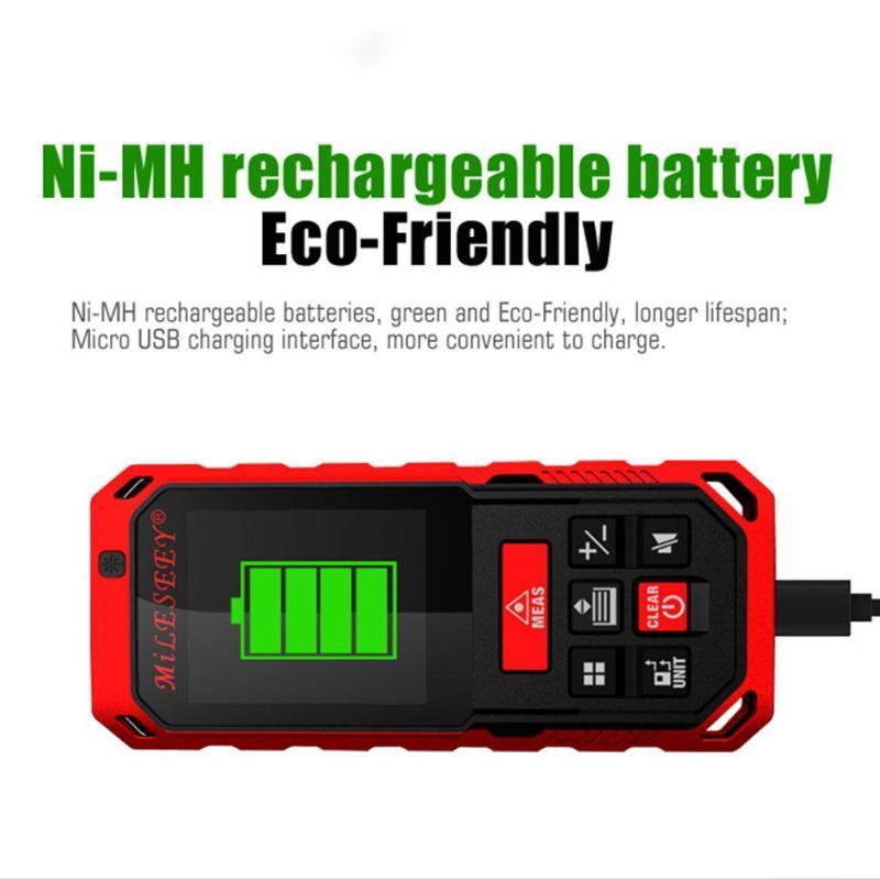 Mileseey S2 Handheld Rechargeable Infrared Laser Rangefinder Distance Meter