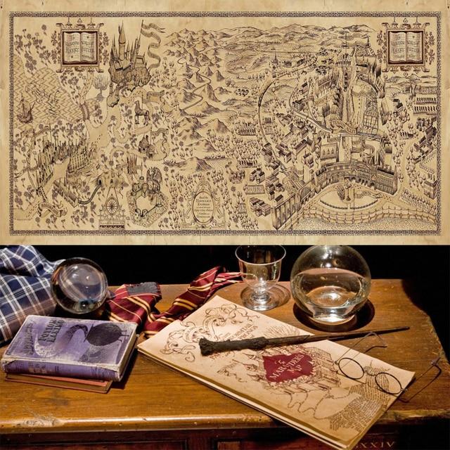 die karte des rumtreibers Harry potter karte Die Karte des Rumtreibers poster aufkleber