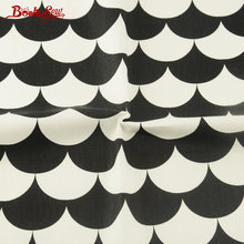 100% Cotton Twill Booksew Fabric Tissue Black and White Geometry Sector Patterns Bedding Sewing Textile Quilting Patchwork(China)