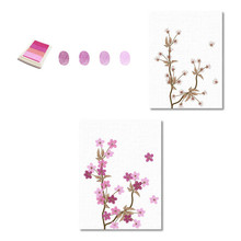 цена на Hot Cherry Blossom Tree DIY Canvas Print Fingerprint Signature Guest Book Wedding Birthday Festival Party Decoration Background