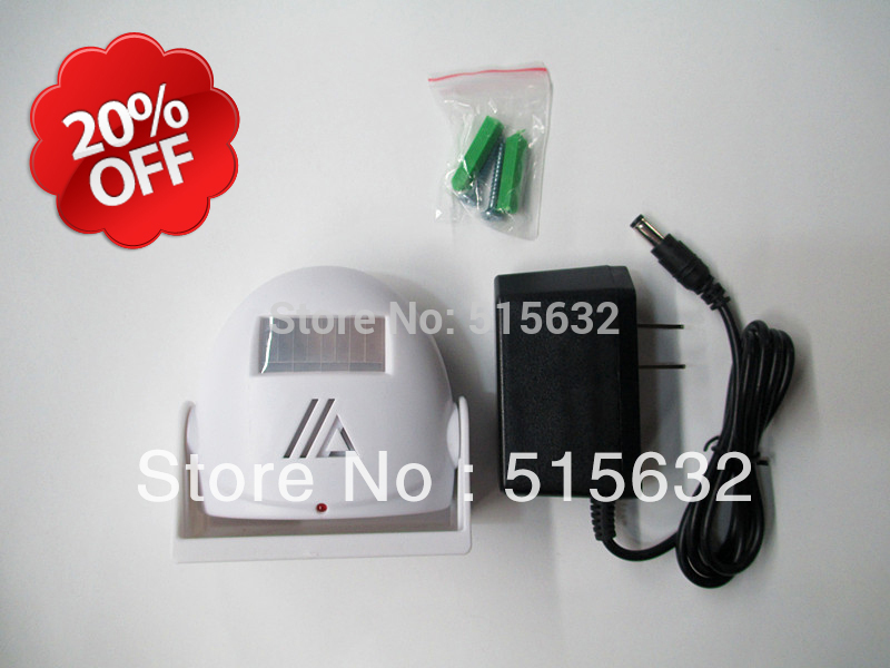 Wireless visitor Customer greeting warning doobell Alert Entrance font b Alarm b font with power charger