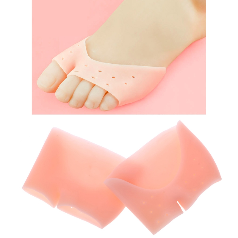 KLV 1pair Silicone Insole Gel Toe Forefoot Pad Bunion Orthotics Toes Separator Shoe Cushion