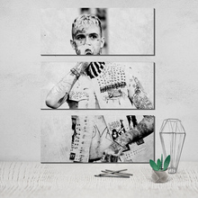 Photo Canvas Poster Lil Peep 3 Panel Wall Art Print on Unframed Cuadros Decoracion Tableau Plakat Obrazy Deco Home