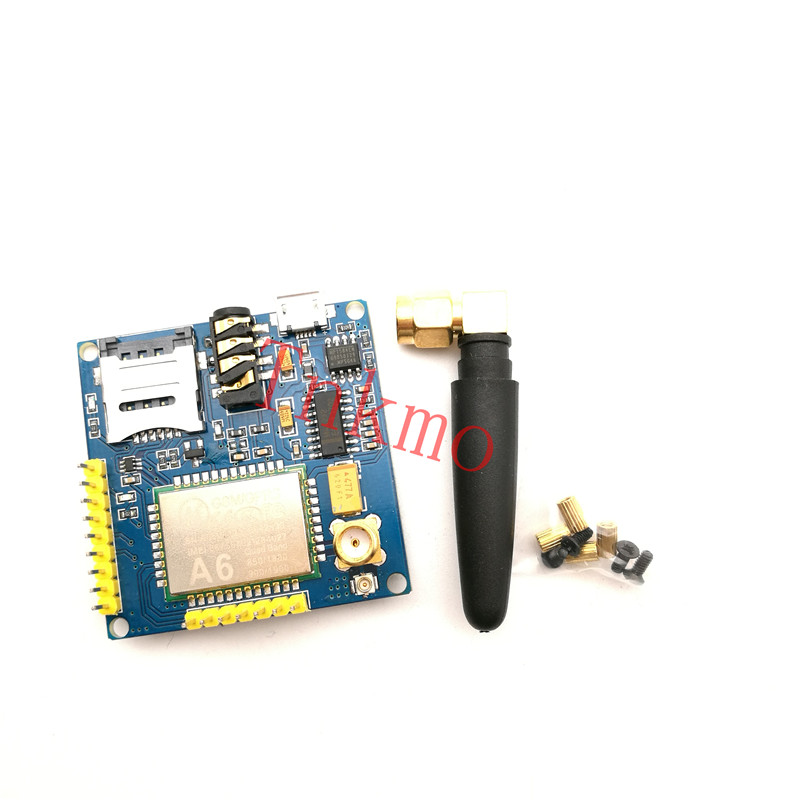 1PCS GPRS A6 Module, Text Messages, Development Board GSM GPRS Wireless Data Transmission of Super SIM900A gprs gsm sms development board communication module m26 ultra sim900 stm32 internet of things with positioning