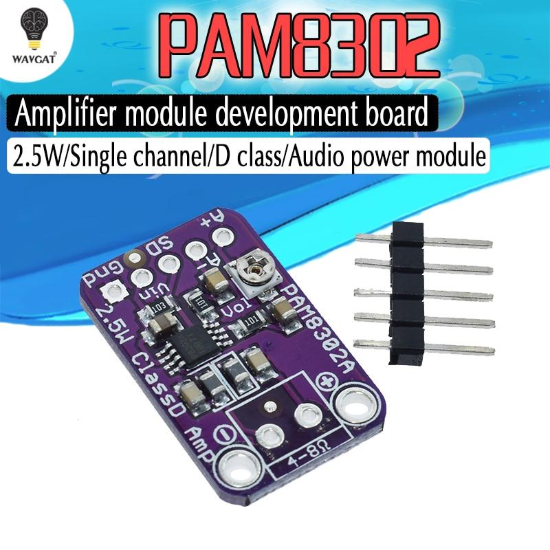 PAM8302A CJMCU-832 PAM8302 2.5W single channel Class D Audio power amplifier module  development boardPAM8302A CJMCU-832 PAM8302 2.5W single channel Class D Audio power amplifier module  development board