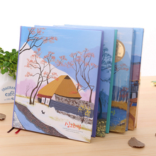 GP Hardcover Book 36K Color Page Illustrations Notepad Creative Student Gifts 1PCS