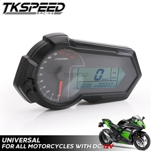 Для 2,4 цилиндров Универсальный 1200 об/мин мотоцикл одометр тахометр UTV ЖК цифровой спидометр для BMW KAWASAKI KTM HONDA SUZUKI