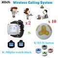 Gel de sílice de plástico botón de llamada camarero sistema de llamada de servicio reloj sin hilos del localizador de servicio al cliente receptor número