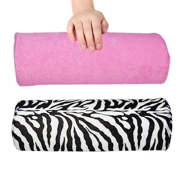 Soft Raya de La Cebra de la Mano Rest Almohada Cojín Nuevo Soft Pink Nail Art Pequeño Mano Descansa Cojín Almohada