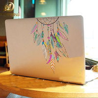 Colorful Dreamcatcher Wind Chimes Indian Feather Vinyl Decal Laptop Stickers For Apple Macbook Pro Air 13