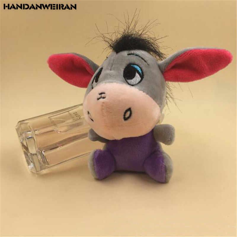1 шт. мини плюшевый осел игрушки маленький кулон новый мультфильм милый мягкий игрушечный Ослик игрушка подарок для детей 10 см HANDANWEIRAN