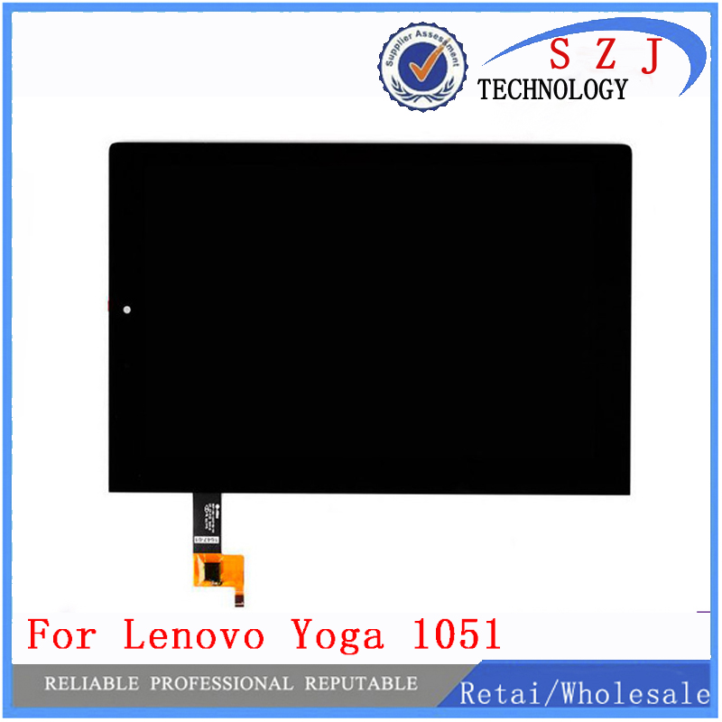 New 10.1 inch For Lenovo Yoga Tablet 2 1051 1051F 1051L LCD Display Monitor+ Digitizer Touch Screen Glass Panel Replacement srjtek 8 inch lcd for huawei tablet t1 821l lcd display digitizer sensor replacement lcd screen 100% tested