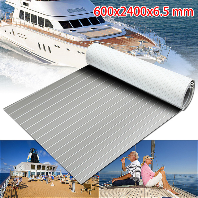 1PC Self-Adhesive 600x2400x6.5mm Flooring Teak EVA Foam Faux Boat Decking Sheet