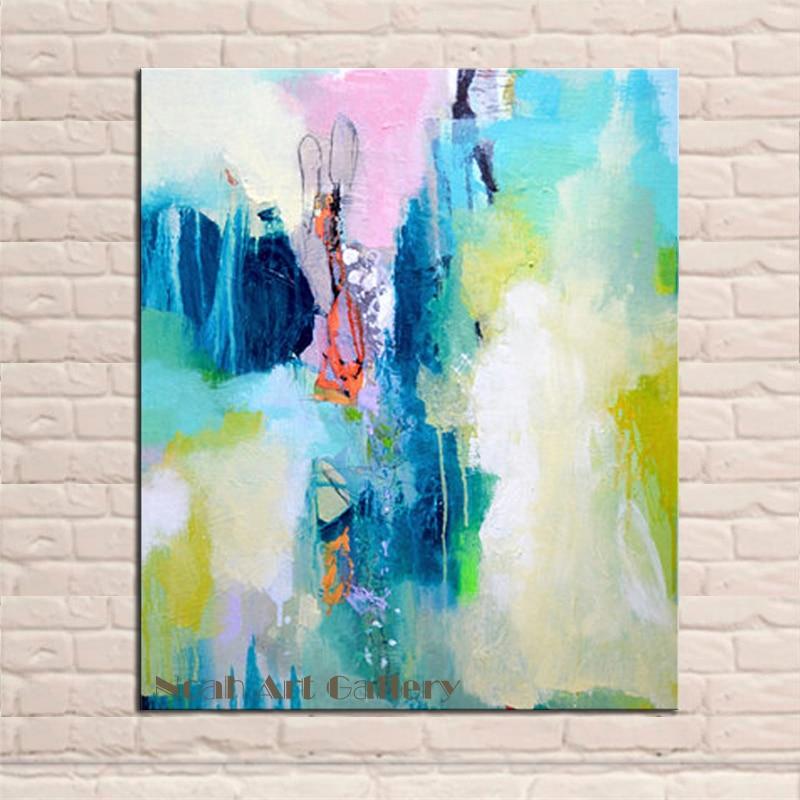 Top Decoratieve Abstract Schilderen 100% Handgeschilderde Eenvoudige @AU01