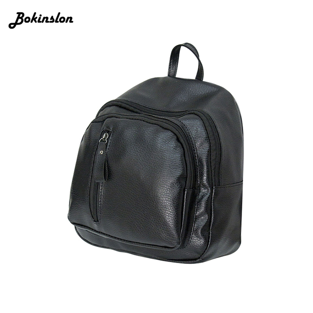 32b10aa91895 Bokinslon Fashion Men Backpack Women Backpack Man Popular Solid Color  Backpack For Woman School Bag